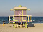 an art deco lifeguard's cabin Miami Beach USA