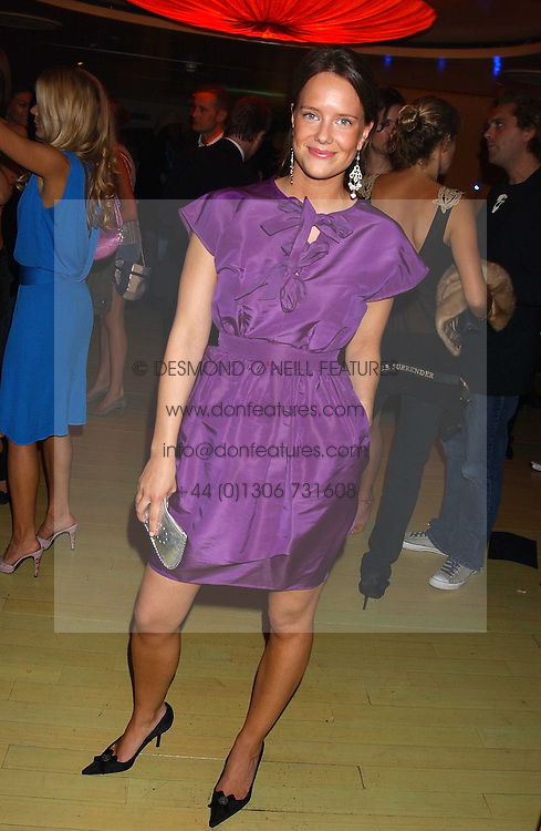 ARABELLA MUSGRAVE at a fashion show by ISSA held at Cocoon, 65 Regent Street, London on 21st September 2005.<br />
