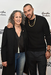 Gina Belafonte and Jesse Williams attend the Survivors Guide to Prison premiere at The Landmark Theatre on February 20, 2018 in Los Angeles, California. Photo by Lionel Hahn/AbacaPress.com