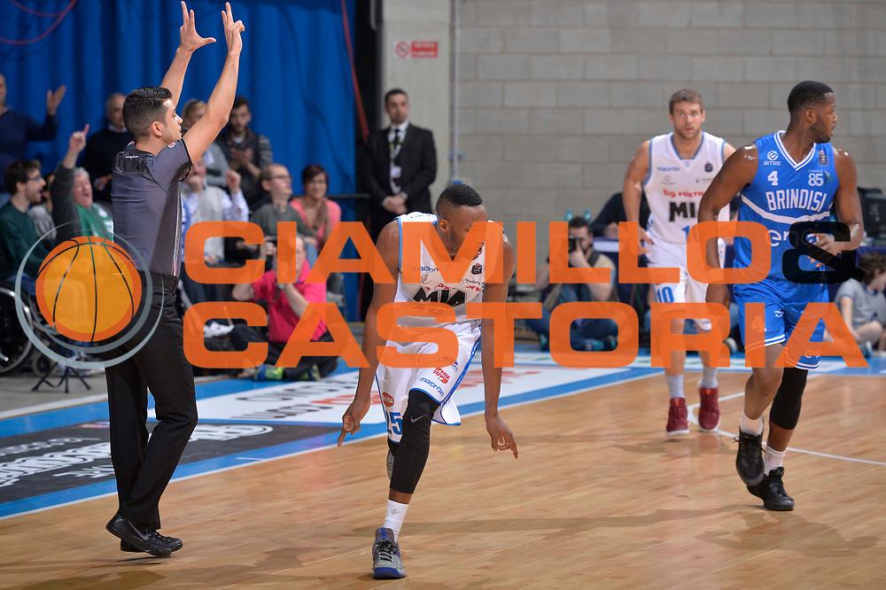 JaJuan Johnson<br /> Mia Cantu - Enel New Basket Brindisi<br /> Lega Basket Serie A 2016/2017<br /> Desio, 19/03/2017<br /> Foto Ciamillo - Castoria