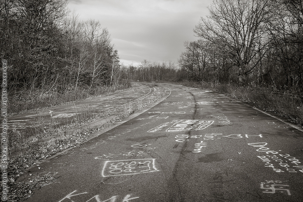 Centralia, PA, section of highway abandoned because of underground coal fire.