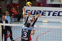 Florian Lacassie - 04.12.2014 - Ajaccio / Izmir - 1/8finale Cev Cup<br /> Photo : Jean Pierre Belzit / Icon Sport