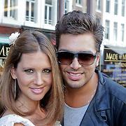 NLD/Amsterdam/20111001 - Opening DSG Instore van Eric Kusters, Waylon en partner Annemijn van Meeuwen