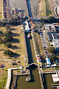 Aerials of transport through Industrial Canal for Casey Civil Engineering