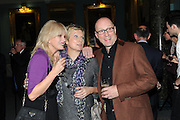 JOANNA LUMLEY; JENNIFER SAUNDERS; ADRIAN EDMONSON, Party following the Theatre Royal press night performance of The Lion in Winter , The Institute of Directors. London. 15 November 2011. <br /> <br />  , -DO NOT ARCHIVE-© Copyright Photograph by Dafydd Jones. 248 Clapham Rd. London SW9 0PZ. Tel 0207 820 0771. www.dafjones.com.
