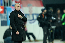 05.03.2014, AFG Arena, St. Gallen, SUI, Testspiel, Schweiz vs Kroatien, im Bild Trainer Ottmar Hitzfeld (SUI) // during the International Friendly match between Switzerland and Croatia at the AFG Arena in St. Gallen, Switzerland on 2014/03/06. EXPA Pictures © 2014, PhotoCredit: EXPA/ Freshfocus/ Andy Mueller<br /> <br /> *****ATTENTION - for AUT, SLO, CRO, SRB, BIH, MAZ only*****