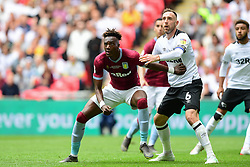 May 27, 2019 - London, England, United Kingdom - Tammy Abraham (18) of Aston Villa holding off Richard Keogh (6) of Derby County during the Sky Bet Championship match between Aston Villa and Derby County at Wembley Stadium, London on Monday 27th May 2019. (Credit: Jon Hobley | MI News) (Credit Image: © Mi News/NurPhoto via ZUMA Press)