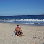 A beach scene on Ipanema beach, Rio de Janeiro,  Brazil. 5th July 2010. Photo Tim Clayton..