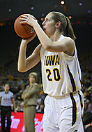 February 18, 2010: Iowa forward Kelly Krei (20) puts up a shot during the second half of the NCAA women's basketball game at Carver-Hawkeye Arena in Iowa City, Iowa on February 18, 2010. Iowa defeated Minnesota 75-54.