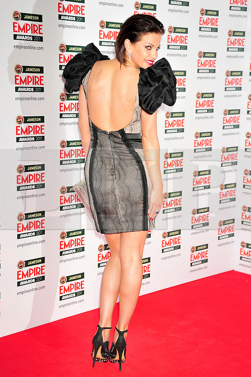 © under license to London News Pictures. 27/03/11. Sarah Harding attends the Jamesons Empire Film Awards , Sunday 27th March 2011 at the Grosvenor House Hotel, Park Lane, London. Photo credit should read ALAN ROXBOROUGH/LNP