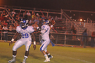 Water Valley's E.J. Bounds (5) and Water Valley's Jeoffrey Gordon (29) vs. Nettleton in Nettleton, Miss. on Friday, October 12, 2012. Water Valley won.