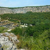 EN&gt; The vertical cliffs of the Cirque des Gens in the Ardeche, France |<br />