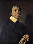 Portrait of Pastor Langelius. Frans Hals (c1581-1666) Dutch painter.