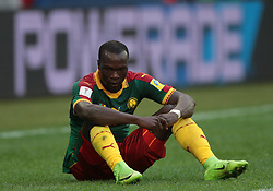 June 22, 2017 - Saint Petersburg, Russia - Vincent Aboubakar of the Cameroon national football team reacts during the 2017 FIFA Confederations Cup match, first stage - Group B between Cameroon and Australia at Saint Petersburg Stadium on June 22, 2017 in St. Petersburg, Russia. (Credit Image: © Igor Russak/NurPhoto via ZUMA Press)