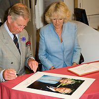 Truro, Cornwall July 11th TRH The Duke and Duchess of Cornwall visit the Royal Cornwall Museum during its 190 Anniversary year, to view the Royal collection's touring exhibition of Leonardo da Vinci drawings. TRH meet members of the Truro Cathedral Choir