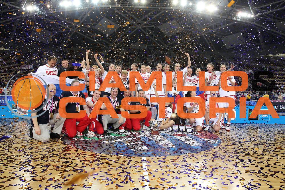 DESCRIZIONE : Lodz Poland Polonia Eurobasket Women 2011 Final Finale Russia Turchia Russia Turkey<br /> GIOCATORE : esultanza team<br /> SQUADRA : Russia<br /> EVENTO : Eurobasket Women 2011 Campionati Europei Donne 2011<br /> GARA : Russia Turchia Russia Turkey<br /> DATA : 03/07/2011<br /> CATEGORIA : <br /> SPORT : Pallacanestro <br /> AUTORE : Agenzia Ciamillo-Castoria/E.Castoria<br /> Galleria : Eurobasket Women 2011<br /> Fotonotizia : Lodz Poland Polonia Eurobasket Women 2011 Final Finale Russia Turchia Russia Turkey<br /> Predefinita :