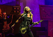 Nita Strauss of Alice Cooper performs on August 11, 2018 at Pechanga Resort and Casino in Temecula, California (Photo: Charlie Steffens/Gnarlyfotos)