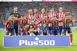 October 14, 2017 - Madrid, Madrid, Spain - Line up of Atletico during the match between Atletico de Madrid vs. FC Barcelona, week 8 of La Liga 2017/18 in Wanda Metropolitano Stadium , Madrid. 14th of october 2017. (Credit Image: © Jose Breton/NurPhoto via ZUMA Press)