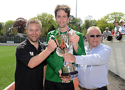 SWYD manager and Matthew Long of SWYD United are presented with the trophy - Mandatory by-line: Dougie Allward/JMP - 08/05/2016 - FOOTBALL - Keynsham FC - Bristol, England - BAWA Sports v SWYD United - Presidents cup final