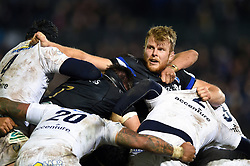 Josh McNally of Bath Rugby in action at a maul - Mandatory byline: Patrick Khachfe/JMP - 07966 386802 - 06/12/2019 - RUGBY UNION - The Recreation Ground - Bath, England - Bath Rugby v Clermont Auvergne - Heineken Champions Cup