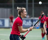 UTRECHT -  Lieke van Wijk (Laren)  de hockey hoofdklasse competitiewedstrijd dames:  Kampong-Laren . COPYRIGHT KOEN SUYK