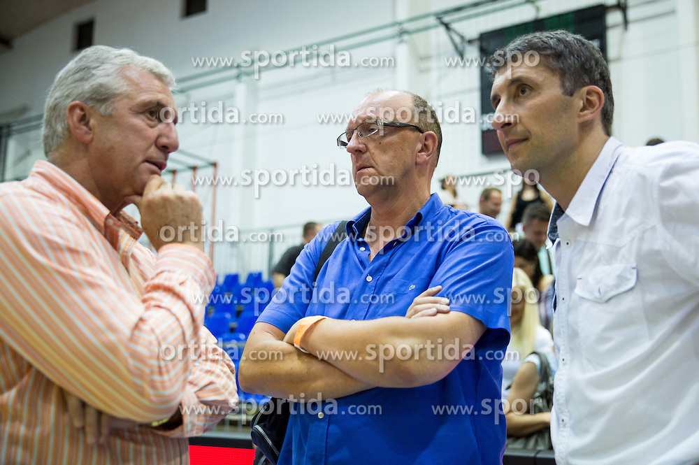 Iztok Rems, Ales Antauer and …  during friendly basketball match between National teams of Slovenia and Ukraine at day 3 of Adecco Cup 2014, on July 26, 2014 in Rogaska Slatina, Slovenia. Photo by Vid Ponikvar / Sportida.com