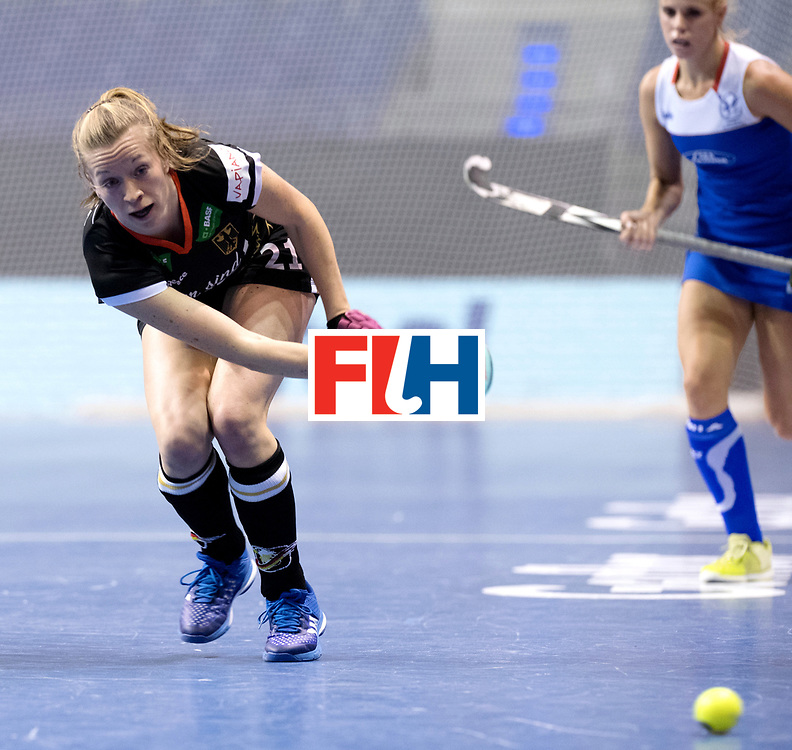 BERLIN - Indoor Hockey World Cup<br /> Women: Germany - Namibia<br /> foto: Franzisca Hauke.<br /> WORLDSPORTPICS COPYRIGHT FRANK UIJLENBROEK