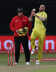 John Hastings of Australia during the 3rd ODI match between South Africa and Australia held at Kingsmead Stadium in Durban, Kwazulu Natal, South Africa on the 5th October  2016<br /> <br /> Photo by: Steve Haag/ RealTime Images