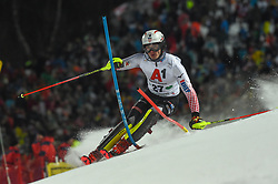 "29.01.2019, Planai, Schladming, AUT, FIS Weltcup Ski Alpin, Slalom, Herren, 1. Lauf, im Bild Istok Rodes (CRO) // Istok Rodes of Croatia in action during his 1st run of men's Slalom ""the Nightrace"" of FIS ski alpine world cup at the Planai in Schladming, Austria on 2019/01/29. EXPA Pictures © 2019, PhotoCredit: EXPA/ Erich Spiess"