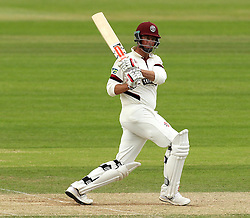 Somerset's Marcus Trescothick pulls the ball - Photo mandatory by-line: Robbie Stephenson/JMP - Mobile: 07966 386802 - 23/06/2015 - SPORT - Cricket - Southampton - The Ageas Bowl - Hampshire v Somerset - County Championship Division One