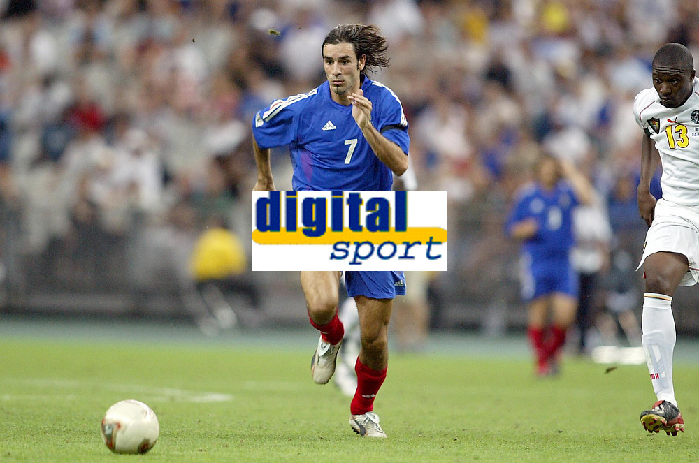FOTBALL - CONFEDERATIONS CUP 2003 - FINAL - FRANKRIKE V KAMERUN - 030629 - ROBERT PIRES (FRA) - PHOTO JEAN MARIE HERVIO / DIGITALSPORT