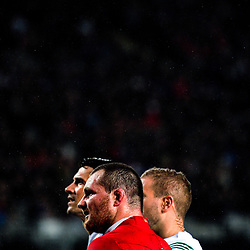 Lions captain Ken Owens waits for a TMO decision on Sonny Bill Williams' try during the 2017 DHL Lions Series rugby union match between the Blues and British & Irish Lions at Eden Park in Auckland, New Zealand on Wednesday, 7 June 2017. Photo: Dave Lintott / lintottphoto.co.nz