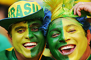 FIFA World Cup 2006 : Brazil fans with painted faces