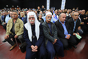 """Druze members of the Labor party vote in favor of the unite with the """"Tnua"""" party, lead by Tzipi Livni, at the Labor Party conference in Tel Aviv on December 14, 2014. The Labor Party conference approved on Sunday evening the details of the deal to set up a centrist block with Tzipi Livni's Hatnuah. Photo by Gili Yaari"""