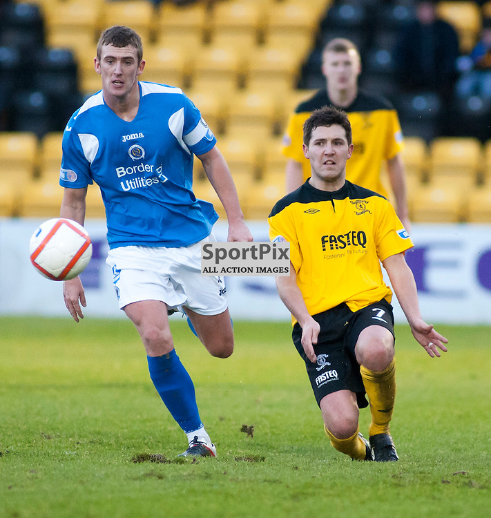 Livingston Captain Liam Fox (7) made history havingmade the most appearances ever for the club 186, Livingston v Queen of the South, SFL Division 1, Braidwood Motor Company Stadium, Monday 21st January 2012