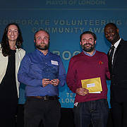 London, UK. 31th October, 2016. Ledley King presents Corporate volunteering in the community awards to Root7 in Wimbledon at Team London Awards at City Hall, London,UK. Photo by See Li