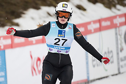 February 8, 2019 - Alexandra Kustova of Russia on first competition day of the FIS Ski Jumping World Cup Ladies Ljubno on February 8, 2019 in Ljubno, Slovenia. (Credit Image: © Rok Rakun/Pacific Press via ZUMA Wire)