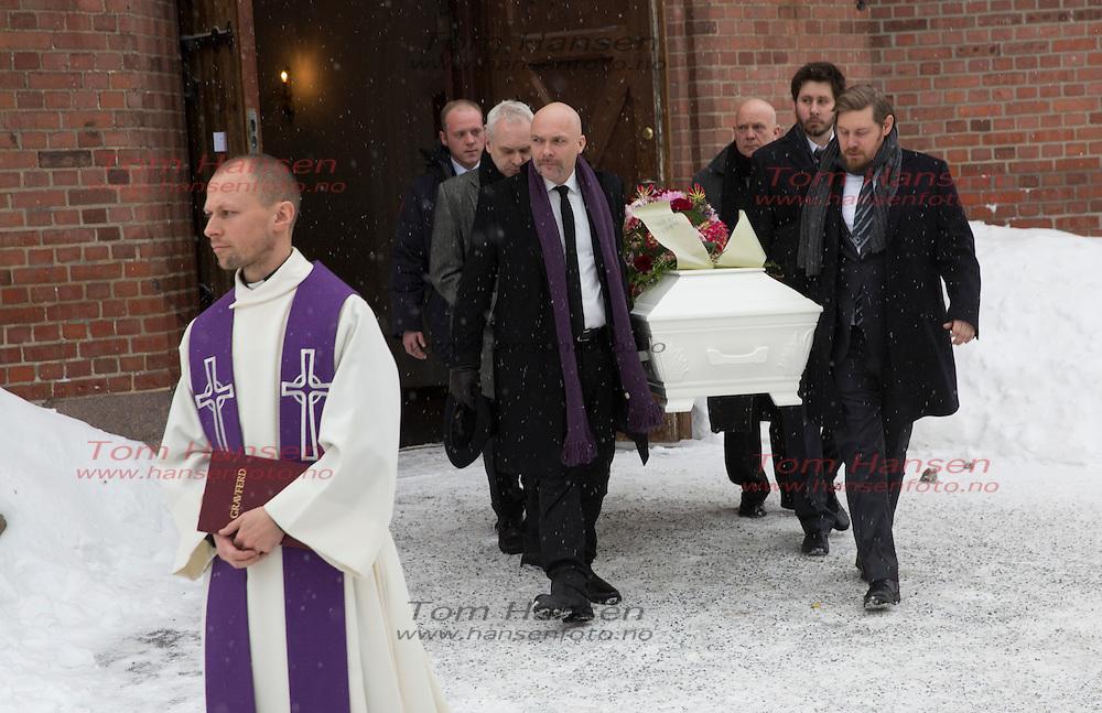 OSLO,  20140130:  Anbjørg Sætre Håtun begravet fra Vestre Aker Kirke i Oslo i dag. Jon Andreas Håtun.  FOTO: TOM HANSEN