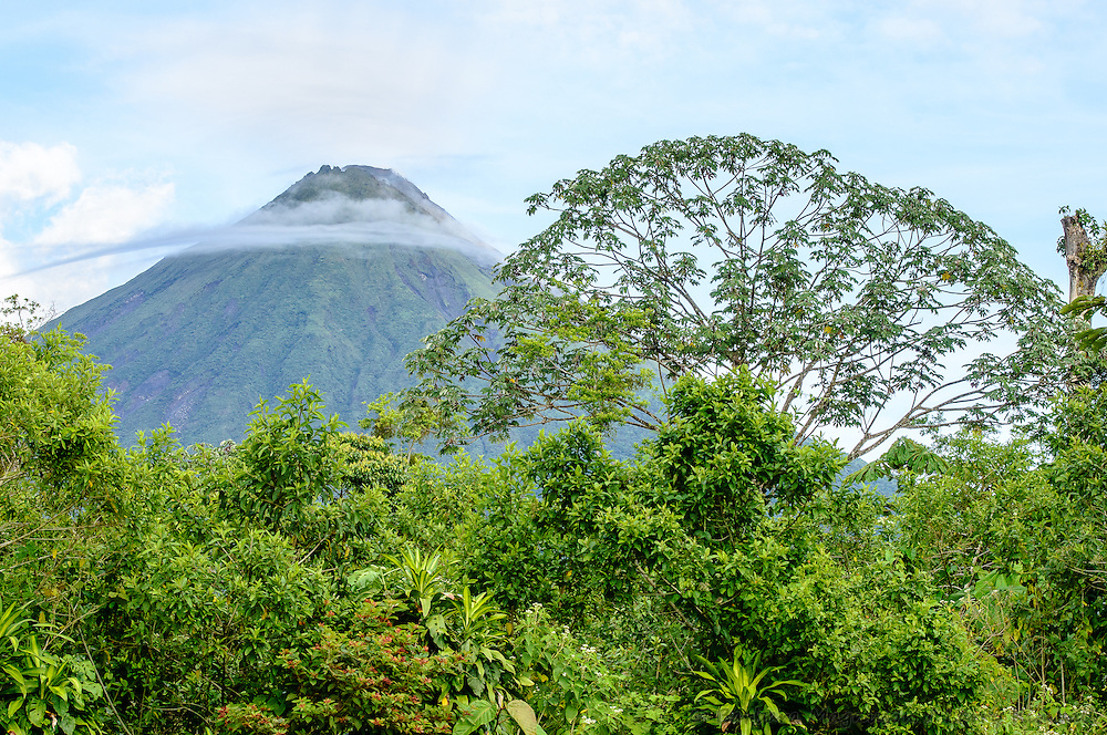 Volcan Arenal, Arenal Volcano, morning near La Fortuna, Costa Rica