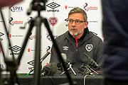 Craig Levein, manager of Heart of Midlothian during the press conference ahead of the SPFL Premiership match between Hearts v St Mirren at Oriam Sports Performance Centre, Riccarton, Edinburgh, Scotland on 22 November 2018.