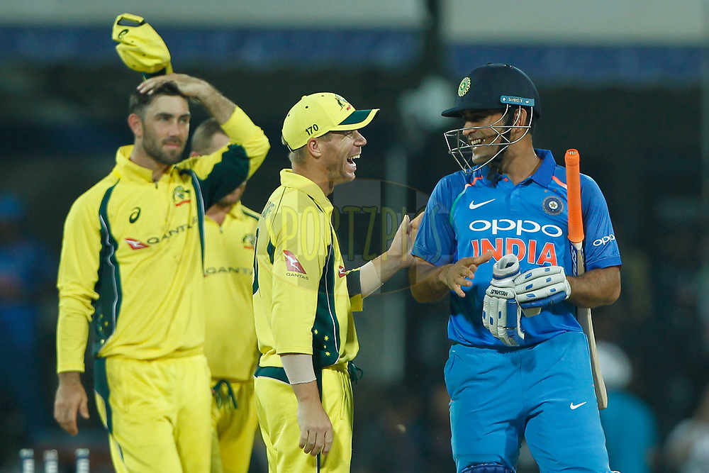 India win the match during the 3rd One Day International between India and Australia held at the Holkar Stadium in Indore on the 24th  September 2017<br /> <br /> Photo by Deepak Malik / BCCI / SPORTZPICS