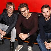 NLD/Hilversum/20151110 - DJ bekendmaking: 3FM Serious Request 2015, Chiel Beelen,Paul Rabbering en Domien Verschuuren