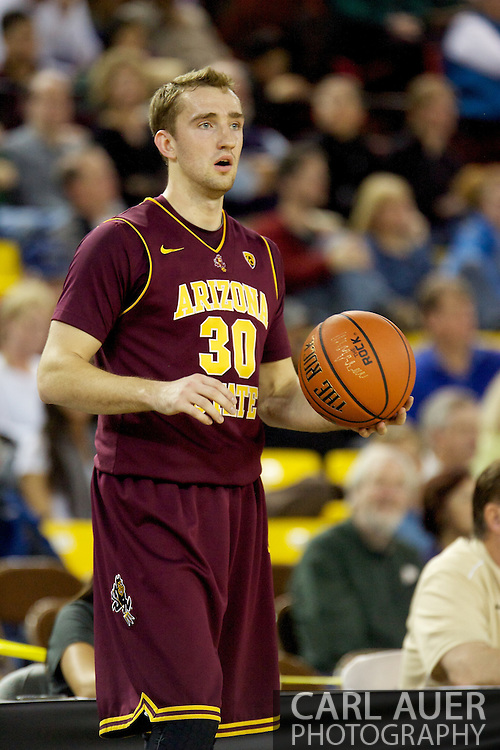 November 26th, 2010:  Anchorage, Alaska - Arizona State senior Rihards Kuksiks (30) during the Sun Devil's 59-58 win over Weber State at the Great Alaska Shootout.