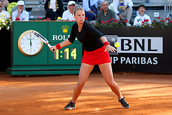 May 18, 2018 - Rome, Rome, Italy - 18th May 2018, Foro Italico, Rome, Italy; Italian Open Tennis; Anett Kontaveit (EST) in action during her quarter-final won 6-1, 6-1 against Caroline Wozniacki (DEN). Credit: Giampiero Sposito/Pacific Press (Credit Image: © Giampiero Sposito/Pacific Press via ZUMA Wire)