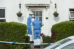 © Licensed to London News Pictures. 12/04/2017. Bristol, UK. Police and forensics attend the scene of a house fire in Sylvan Way. It is reported that an elderly woman died. Photo credit : Simon Chapman/LNP