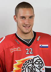 Jure Dolinsek at HK Acroni Jesenice Team roaster for 2009-2010 season,  on September 03, 2009, in Arena Podmezaklja, Jesenice, Slovenia.  (Photo by Vid Ponikvar / Sportida)