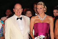 MONTE-CARLO, MONACO - AUGUST 05:  HSH Prince Albert II of Monaco and HSH Princess Charlene of Monaco attend the 63rd Red Cross Ball Gala at  Monte-Carlo Sporting on August 5, 2011 in Monte-Carlo, Monaco.  (Photo by Tony Barson/WireImage)