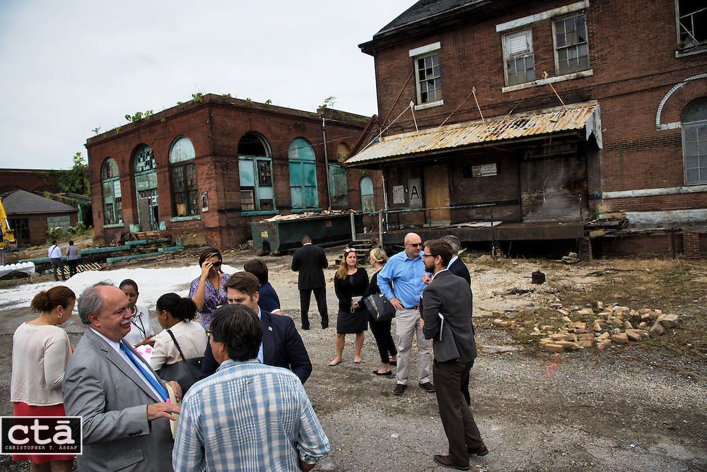 American Communities Trust & Baltimore Food Hub groundbreaking for the Baltimore Food Hub in East Baltimore on Tuesday, Sept, 20, 2016.
