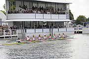 Henley, Great Britain.  Henley Royal Regatta. Princeton Training Center, USA, W8+, pass the Floating Grandstand, on their way to winning the Semi-Final, of the Remenham Challenge Cup. River Thames Henley Reach.  Royal Regatta. River Thames Henley Reach.  Saturday  02/07/2011  [Mandatory Credit  Intersport Images] . HRR
