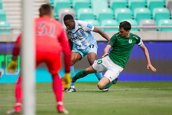 Branko Ilic of NK Olimpija Ljubljana and Bede Amarachi Osuji of ND Gorica during football match between NK Olimpija Ljubljana and ND Gorica in Round #29 of Prva liga Telekom Slovenije 2017/18, on April 29, 2018 in SRC Stozice, Ljubljana, Slovenia. Photo by Urban Urbanc / Sportida